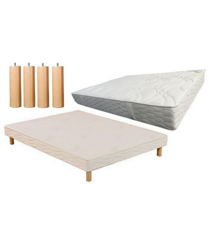 ensemble 160x200 matelas mousse et sommier lattes. Black Bedroom Furniture Sets. Home Design Ideas