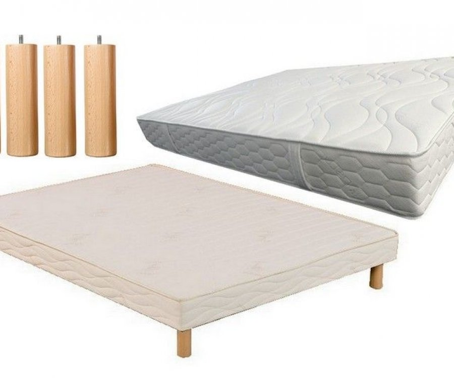 ensemble 120x190 matelas mousse et sommier lattes. Black Bedroom Furniture Sets. Home Design Ideas